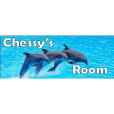 Dolphin Door Sign
