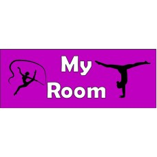 Gymnast Door Sign