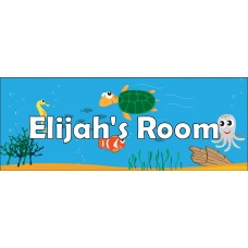 Under The Sea Door Sign