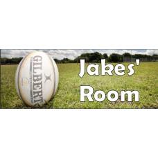 Rugby door sign