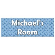 Blue Pattern Door Sign