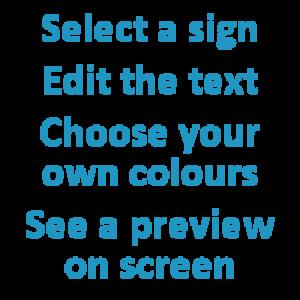 Create your own door sign