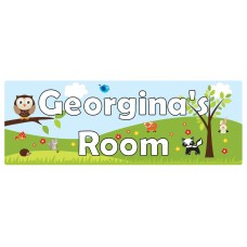 Forest Theme Door Sign