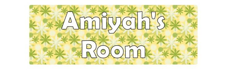 Flowers Green Door Sign