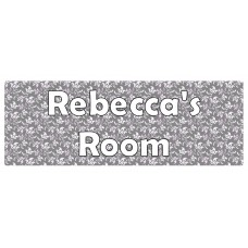 Flowers Grey Swirl Door Sign