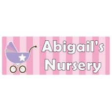 Nursery Pink Door Sign