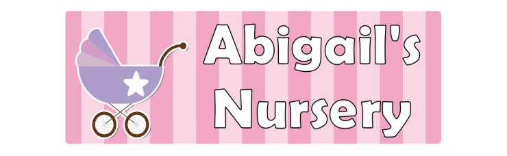 Nursery Pink Door Sign