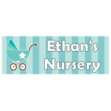 Nursery Turquoise Door Sign