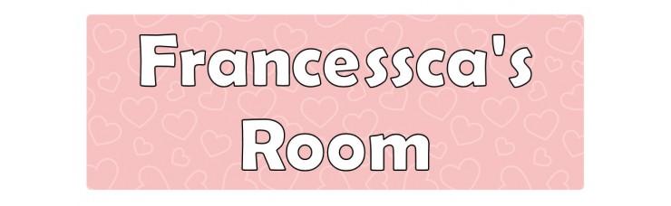 Hearts Pink Door Sign