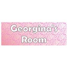 Swirls Pink Door Sign