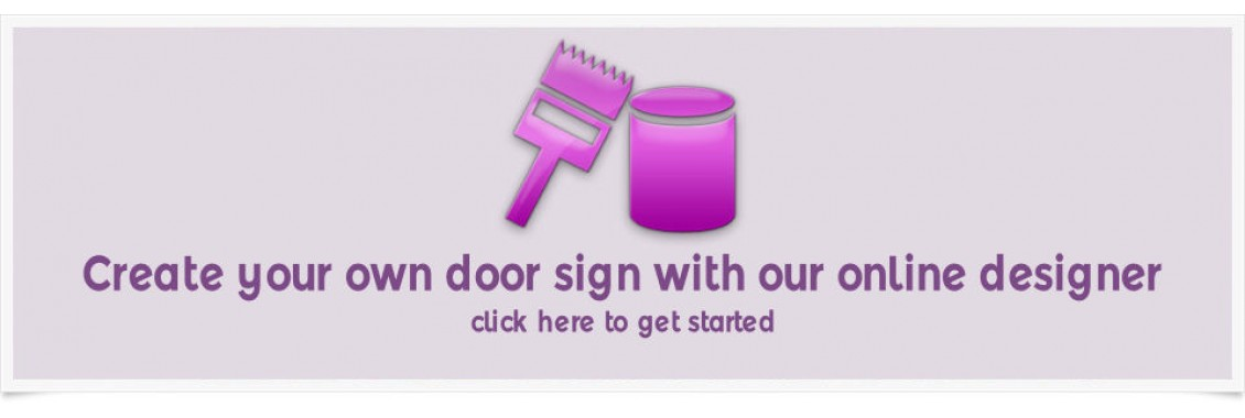 Create your own door sign