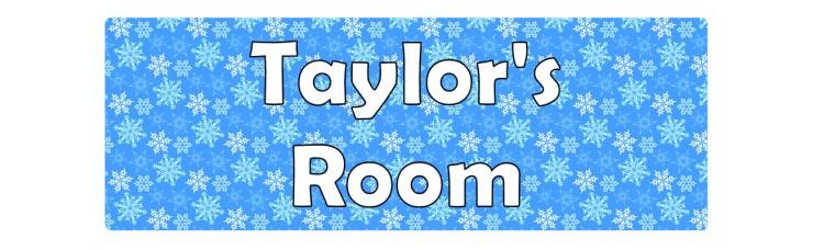 Frozen Snowflakes Door Sign